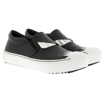 Leather Slipper Black / White Sneakers