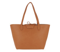 Logo Shopping Bag Double Dk Cuoio Shopper