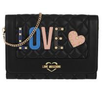 Quilted Love Clutch Black Tasche