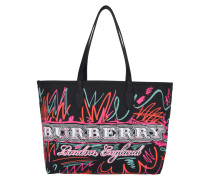 Doodle Marmaking Reversible Canvas Tote Black schwarz