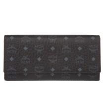 Color Visetos Three Fold Large Wallet Black
