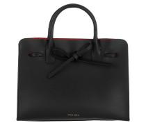 Mini Sun Bag Leather Black Flamma Tote