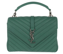 YSL Monogramme College Bag Quilted Leather Medium Faux Satchel Bag