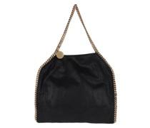 Falabella Shaggy Small Tote Bag Black/Gold Tote