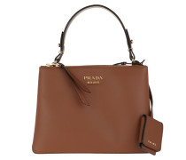 Tote Deux Small Bag Leather Cognac braun