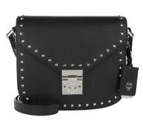 Patricia Studded Outline Park Avenue Small Shoulder Bag Black