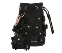 Kasper Flower Bucket Bag Black Beuteltasche