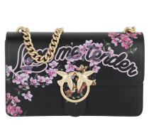 Love Me Tender Flowers Shoulder Bag Nero Satchel Bag