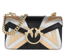 Umhängetasche Mini Love Chevron Crossbody Bag Black/Silver/Gold schwarz