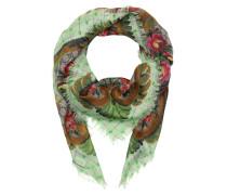 Patterned Shawl Beige/Ebony/Green Schal