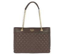 Quilted Shopping Bag Taupe Shopper