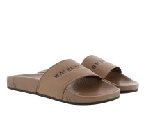 Schuhe Pool Slide Sandals Beige braun