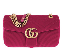 GG Marmont Shoulder Bag Velvet Raspberry Tasche