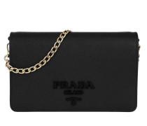 Saffiano Lux Crossbody Calf Leather Black Tasche