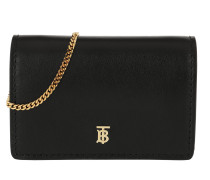 Umhängetasche Mini Chain Bag Leather Black schwarz