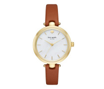 KSW1156 Holland Skinny Strap Watch Gold/Luggage Uhr