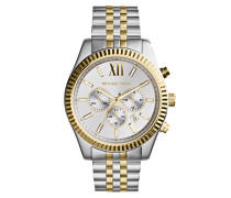 Uhr MK8344 Lexington Watch Silver and Gold-Tone