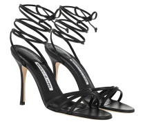 Leva 105 Strappy Sandals Leather Black Pumps