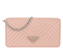 Umhängetasche Mini Crossbody Bag Quilted Leather Orchidea rosa