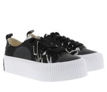 Sneakers Plimsoll Platform Low Sneaker Black/ White schwarz