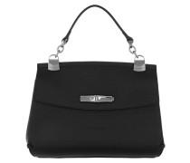 Umhängetasche Madeleine Messenger Bag Leather Black schwarz