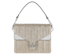 Ambrine Metal Straw Bag Silver