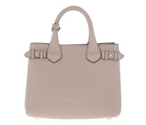 House Check Derby Leather Small Banner Tote Pale Orchid Tote