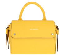 Satchel Bag Karl Ikon Mini Top Handle Sun Yellow