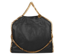 Falabella Shaggy Deer S Tote Black/Gold
