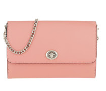 Umhängetasche Smooth Leather Turnlock Chain Crossbody Bag Pink rosa