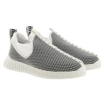 Sneakers Low Top Sneaker Knit Black/White weiß