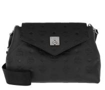 Umhängetasche Essential Monogrammed Leather Crossbody Small Black schwarz