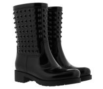 Rockstud Rain Boots Nero Schuhe
