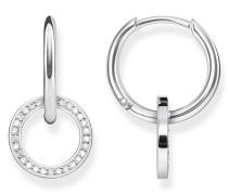 Ohrringe Earrings Circle Silver