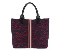 Boccanera Handle Bag Pizzo Blue/Rosso Tote rot