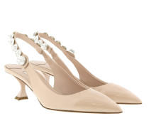 Sling Back Pumps Patent Crystals Cipria Pumps