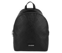 Embossed Backpack Nero Rucksack