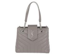 LouLou Shopping Bag Small Leather Fog Satchel Bag