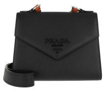 Prada Monochrome Saffiano Leather Bag Black/Papaya Tasche