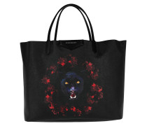 Jaguar Printed Antigona Shopping Bag Large Black/Red