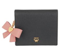 Mina Bow Charm Flap Wallet Mini Phantom Grey
