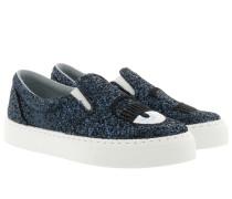 Slip On Glitter Blue Sneakers
