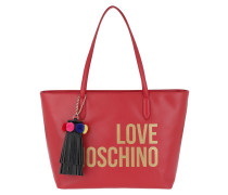 Shopping Bag Tassel Rosso Shopper