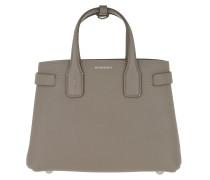 Banner Tote Bag Leather Vintage Check Small Taupe Tote