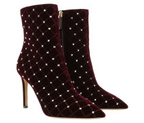 Valentino Studded Ankle Boots Rubino Schuhe