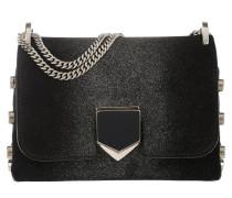 Locket Mini Shoulder Bag Suede/Sprayed Glitter Black/Champagne