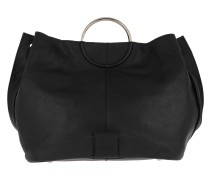 Genova Amalpe Flap Over Bag Black Tote