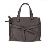 Tote Gate Top Handle Small Bag Dark Taupe