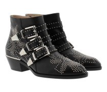 Susanna Nappa Boots Black Silver Schuhe