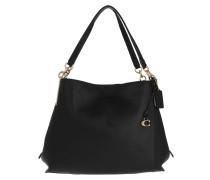 Tote Polished Pebble Leather Dalton Shoulder Bag Black